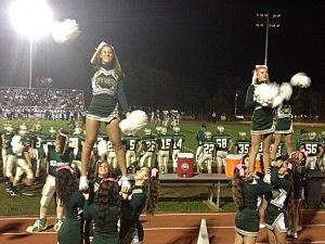 Cheerleaders at the Brick Memorial-Neptune game