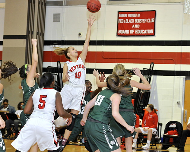 Neptune's Desiree Allen leads the Shore Conference in field goals and free throws made (Eric Braun)