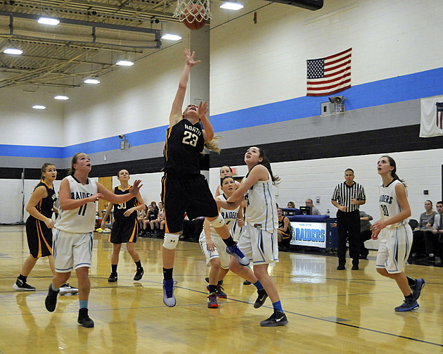 Toms River East vs Toms River North girls basketball  (photo by Eric Braun)