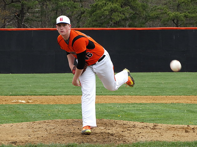 Jasn Groome struck out 13 in a two-hit shutout in his return to high school action. (Photo by Matt Manley)