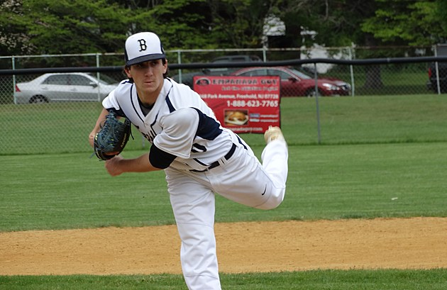 Dan Chiusano pitched a perfect game Wednesday against Manasquan in the SCT. (Photo by Matt Manley)