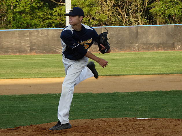 Toms River North sophomore Brendan Mullins pitched the Mariners to an OCT title. Photo by Matt Manley)