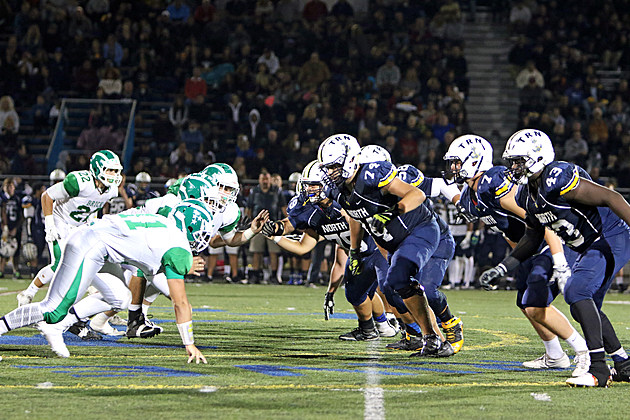 Toms River North offensive line. (Photo by Ray Richardson).