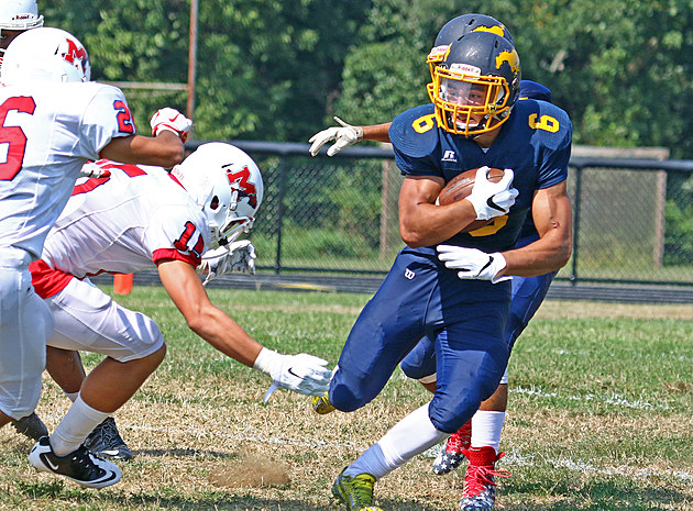 Marlboro's Cameron Caorsi is one of four 1,000-yard rushers that will look to lead Monmouth County to victory in the 40th annual All-Shore Gridiron Classic. (Photo by Ray Richardson)