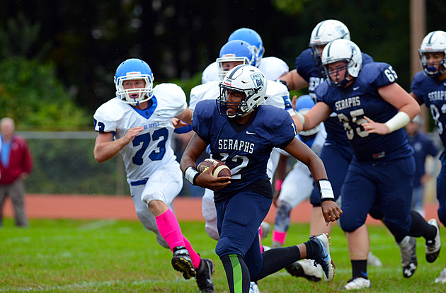 George Pearson and Mater Dei Prep look to set a school record for wins by beating Point Beach. (Photo by Walter J. O'Neill Jr./The Link News)