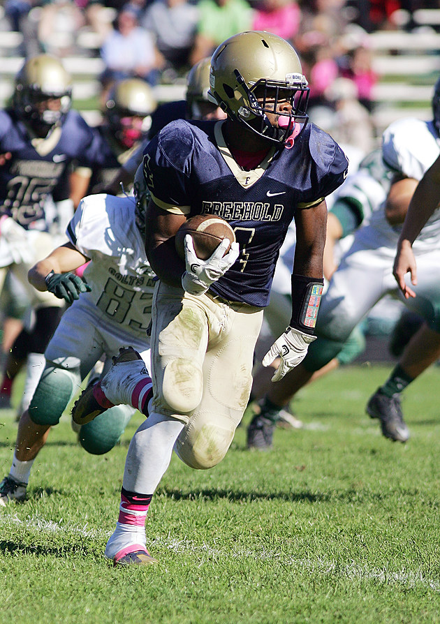 Freehold quarterback Ashante Worthy broke multiple records with a historic performance. (Photo by Bill Normile).