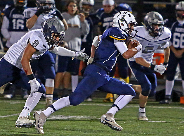 Senior quarterback Mike Husni and Toms River North are back in the South Jersey Group V title game after a 62-34 win over Howell. (Photo by Ray Richardson).