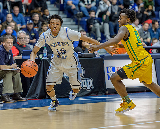 Kenny Jones and Mater Dei Prep had their hands full with the state's No. 1 team in suffering their first loss. (Photo by Robert Samuels)