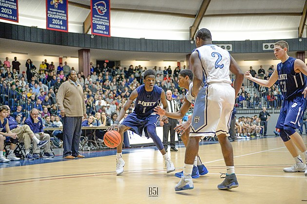 Ranney sophomore Bryan Antoine vs. Mater Dei in last year's SCT. (Photo by Mark Brown, B51 Photography)