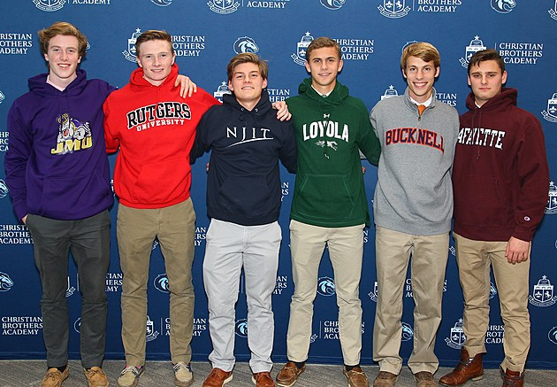 CBA soccer signees, from left to right: (Photo provided by CBA Athletics)