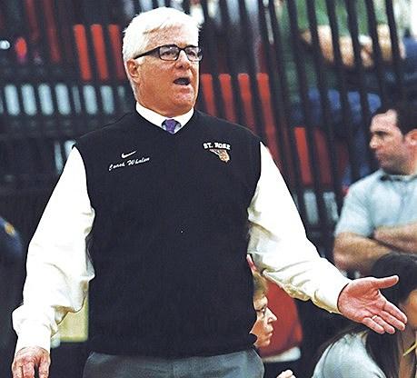 St. Rose fifth-year head coach Joe Whalen. (Photo by Paula Lopez)