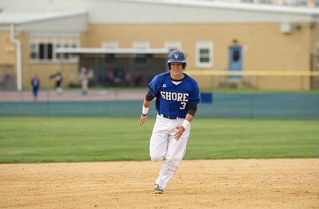 Shore Regional senior Mike Jelliff belted two grand slams in the same inning in the Blue Devils' season-opening win. (Photo courtesy of Mike Jelliff)