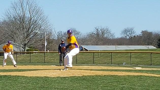 St. Rose righty Brandon Mology threw a five-inning shutout to kick off his senior season. (Photo by Scott Stump)
