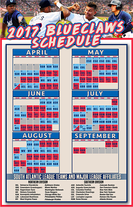 Lakewood BlueClaws Schedule