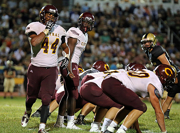 Central tight end Denis Corbin (#44). (Photo by Ray Richardson).