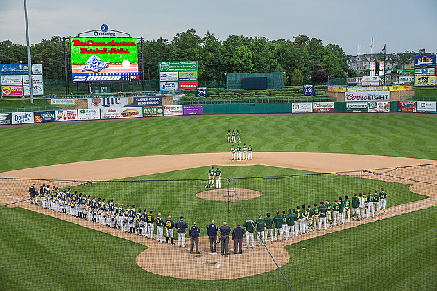 FirstEnergy Park in Lakewood prior to the Shore Conference Tournament final. (Photo by Paula Lopez)